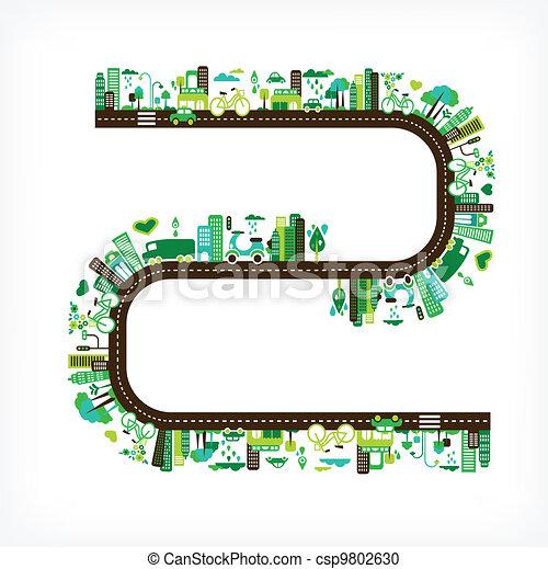 ambiente, città, ecologia, -, verde - csp9802630