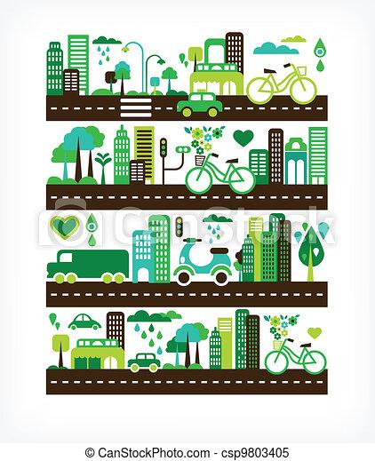 ambiente, città, ecologia, -, verde - csp9803405