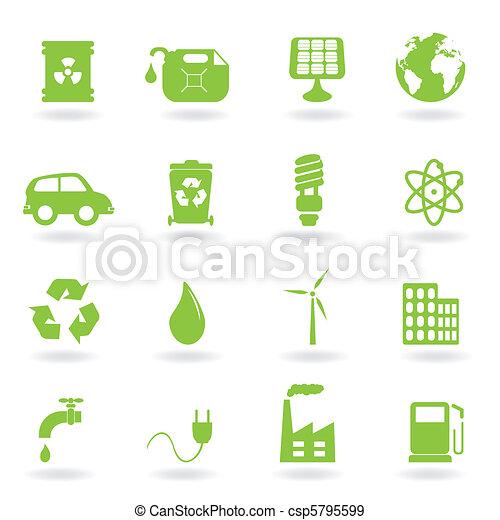 ambiente, eco, simboli - csp5795599