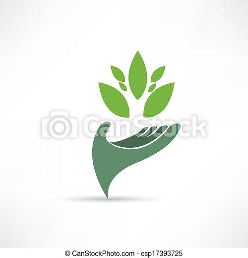 ambiente, ecologico, icona - csp17393725