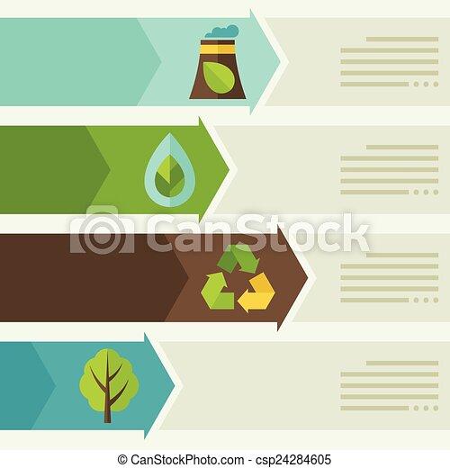 ambiente, infographic, ecologia, icons. - csp24284605