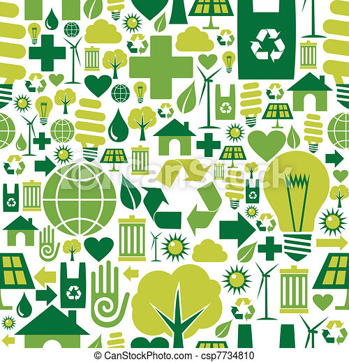 ambiente, modello, sfondo verde, icone - csp7734810