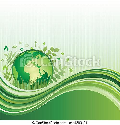 ambiente, sfondo verde - csp4883121