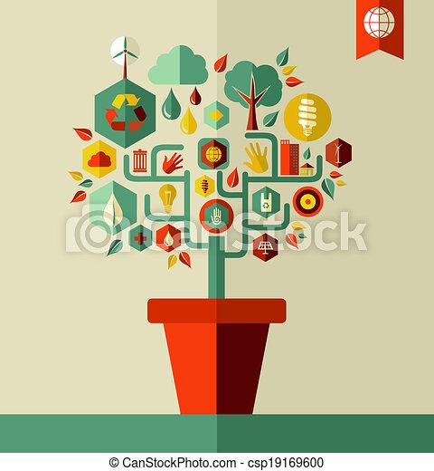 ambiente, verde, concetto, albero - csp19169600