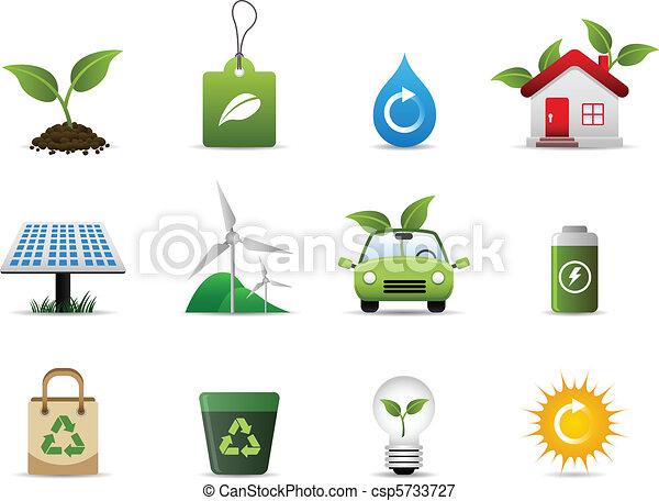 ambiente, verde, icona - csp5733727