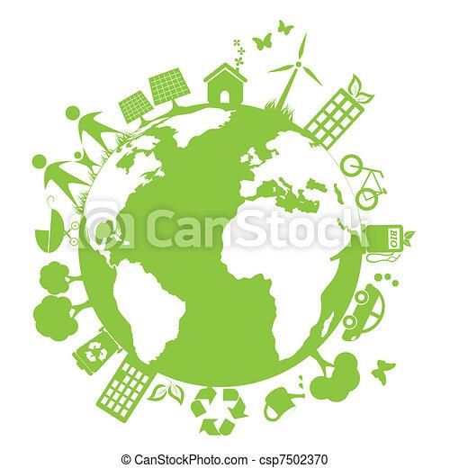 ambiente, verde, pulito - csp7502370