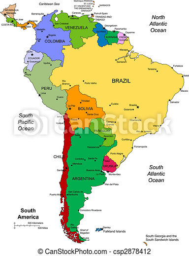 america, editable, sud, paesi - csp2878412