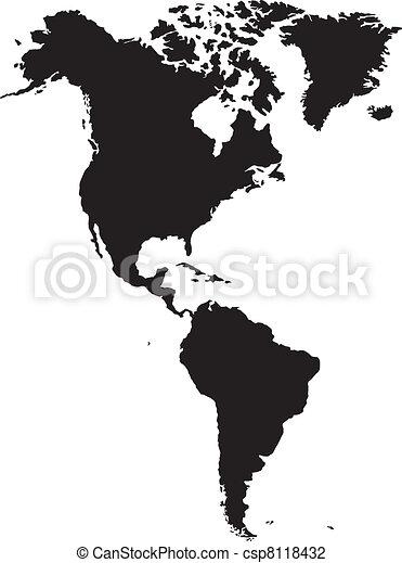 americano, continente - csp8118432