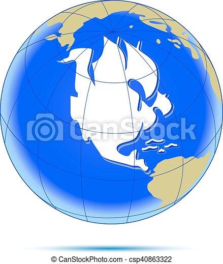 americano, sailfish., continente, come - csp40863322