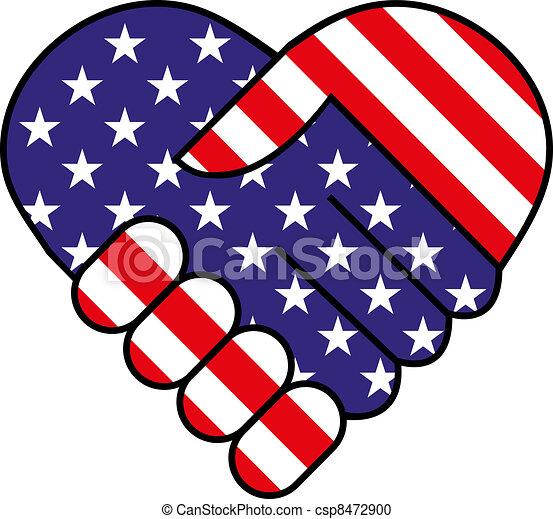 americano, scossa mano - csp8472900