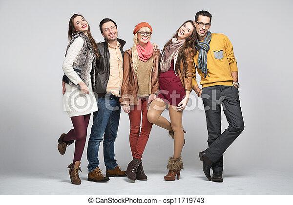 amici, moda, immagine, stile - csp11719743