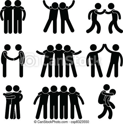 amicizia, amico, relazione, squadra - csp8323550