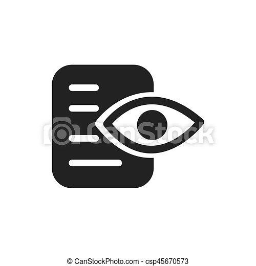 analisi, carta, icona, occhio, dati - csp45670573