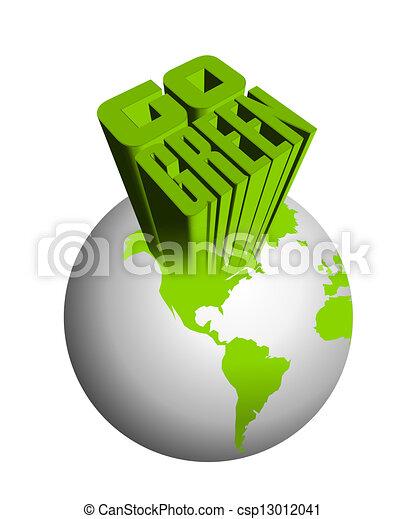 andare, concetto, verde - csp13012041