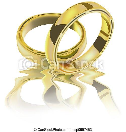 anelli, due, matrimonio - csp0997453