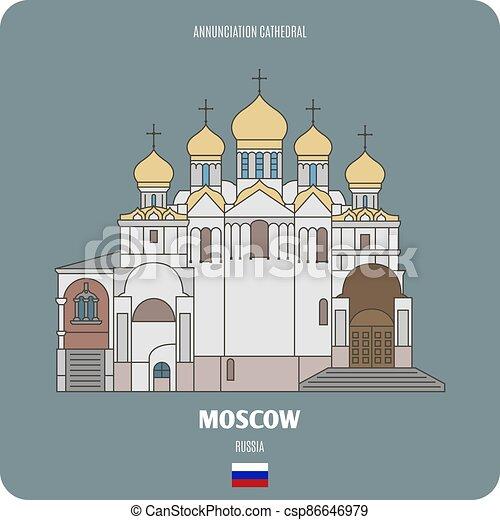 annunciazione, mosca, cattedrale, russia - csp86646979