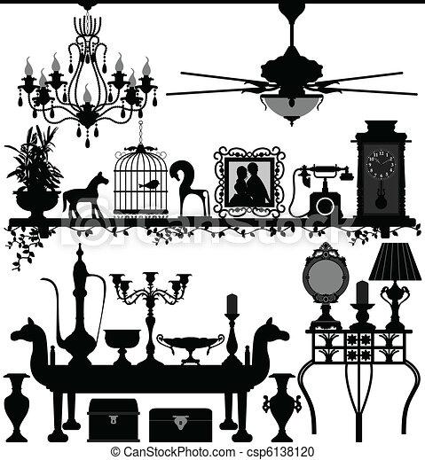 anticaglia, decorazione casa, mobilia - csp6138120