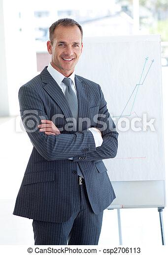 anziano, figure vendite, uomo affari, segnalazione - csp2706113