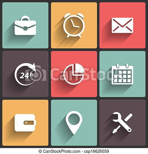 appartamento, domanda, disegno, icone fotoricettore - csp16626559