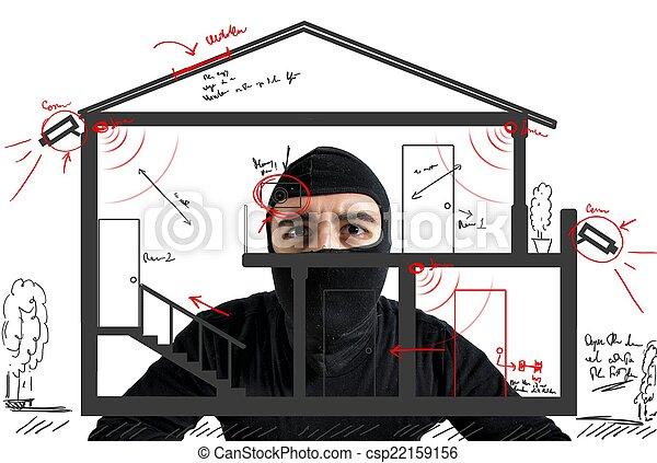 appartamento, ladro - csp22159156