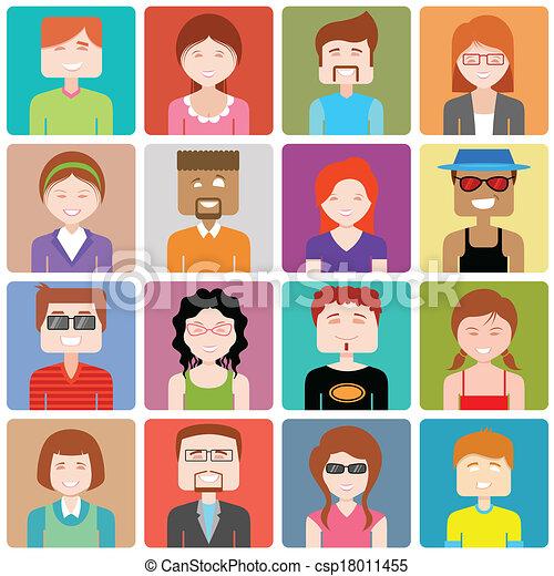 appartamento, persone, disegno, icona - csp18011455