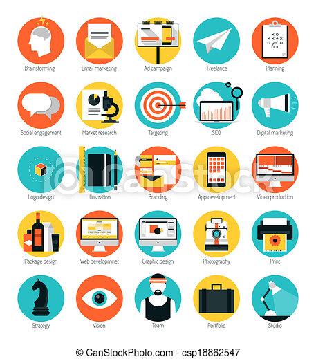 appartamento, set, icone, marketing, disegno, servizi - csp18862547
