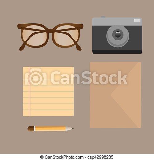 appartamento, set, moderno, vettore, roba, devices. - csp42998235