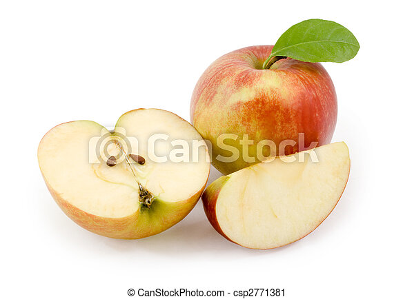 apples., bianco, taglio, mela, fondo - csp2771381