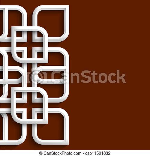 arabo, ornamento, stile, 3d - csp11501832