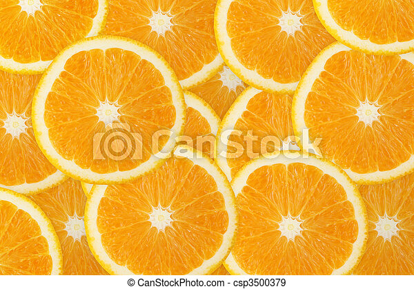arancia, frutta, succoso, fondo - csp3500379
