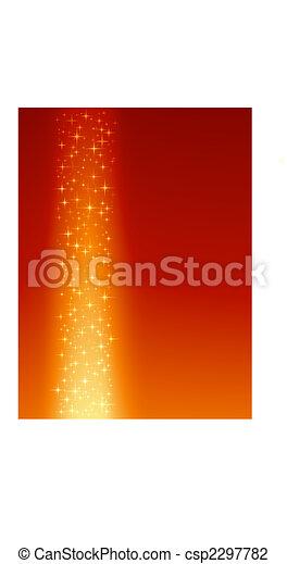 arancia, rosso, stelle, fondo, festivo - csp2297782