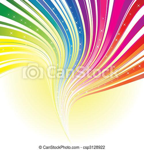 arcobaleno, stelle, colorare, astratto, striscia, fondo - csp3128922