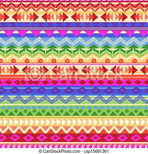 arcobaleno, striscia, azteco - csp15691361