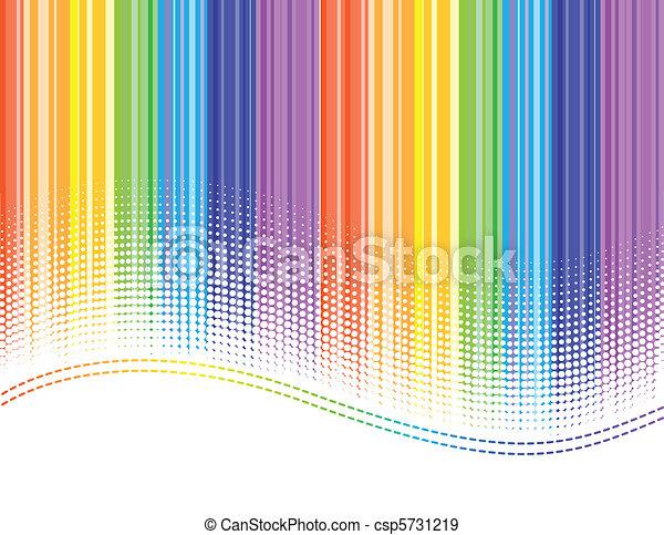 arcobaleno, zebrato - csp5731219
