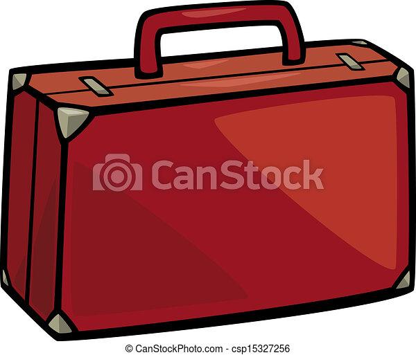 arte clip, cartone animato, illustrazione, valigia - csp15327256