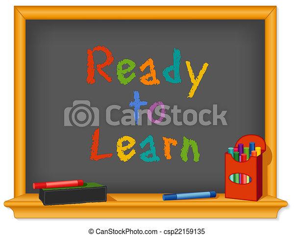 asse, pronto, gesso, imparare - csp22159135