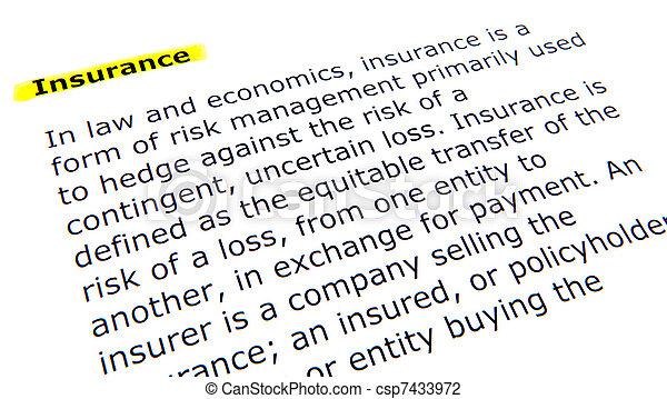 assicurazione - csp7433972