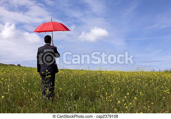 assicurazione, uomo - csp2379108