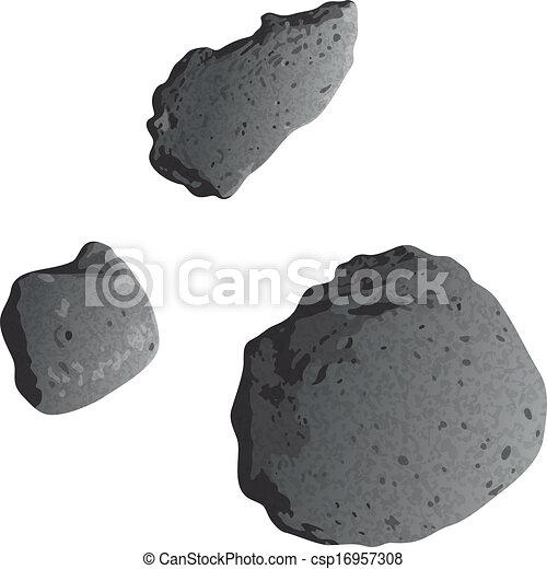 asteroidi, isolato, bianco - csp16957308