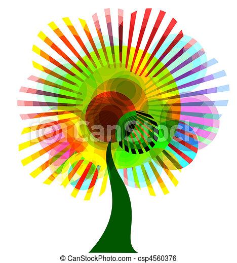 astratto, albero, colorito - csp4560376