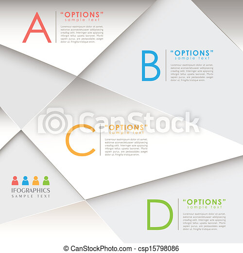astratto, carta, 3d, infographics - csp15798086