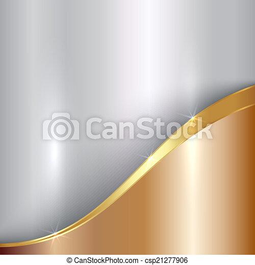 astratto, curva, metallico, vettore, fondo, prezioso - csp21277906