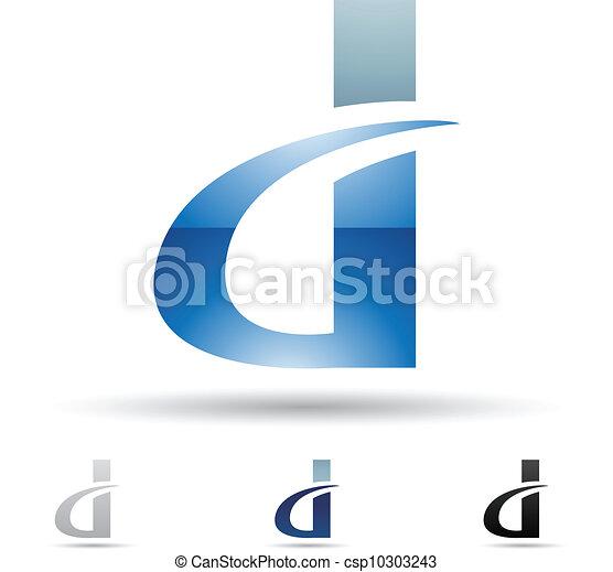 astratto, d, lettera, icona - csp10303243