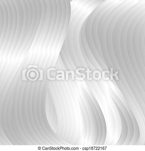 astratto, elegante, vettore, onde, argento, fondale - csp18722167