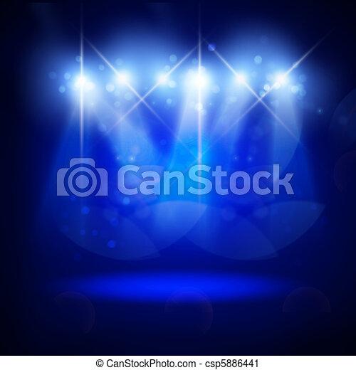 astratto, illuminazione, immagine, concerto - csp5886441
