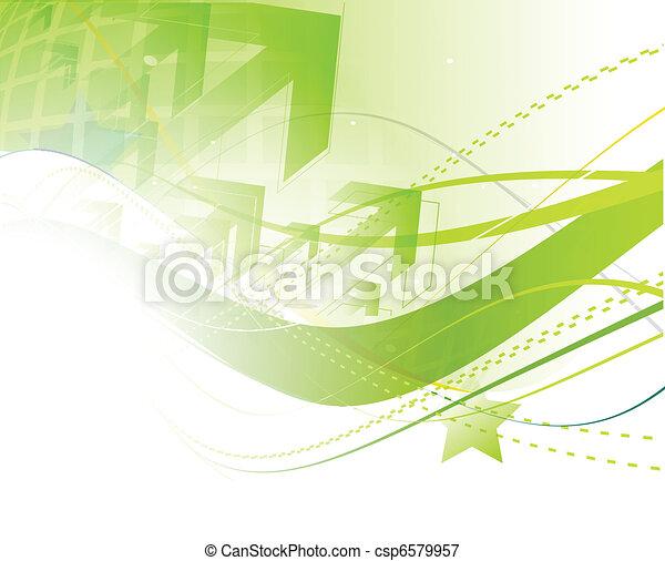 astratto, linea, fondo, onda - csp6579957