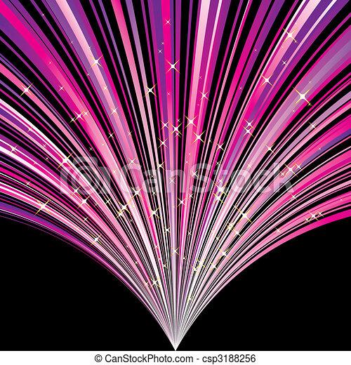 astratto, stelle, striscia, fondo, magenta - csp3188256