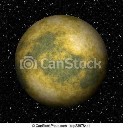 astratto, struttura, plutone, pianeta, generare, fondo - csp23978444