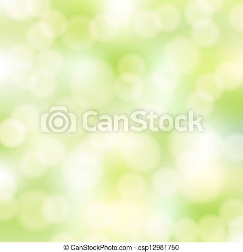 astratto, verde, bokeh, fondo - csp12981750