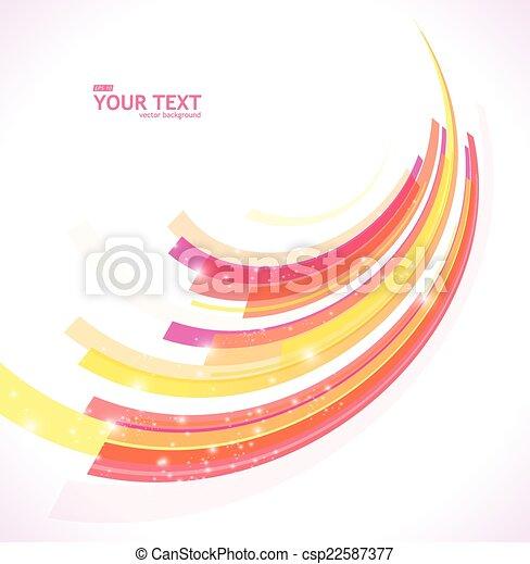 astratto, vettore, linea, fondo - csp22587377